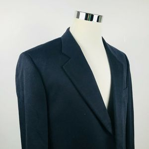 Loro Piana Mens 44R Sport Coat 100% Cashmere Black